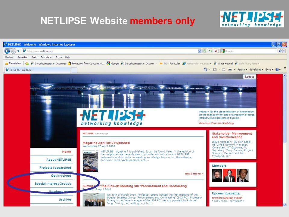 NETLIPSE Website members only