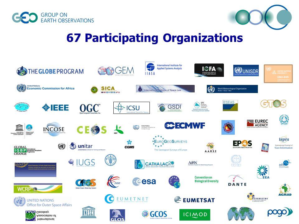© GEO Secretariat 67 Participating Organizations