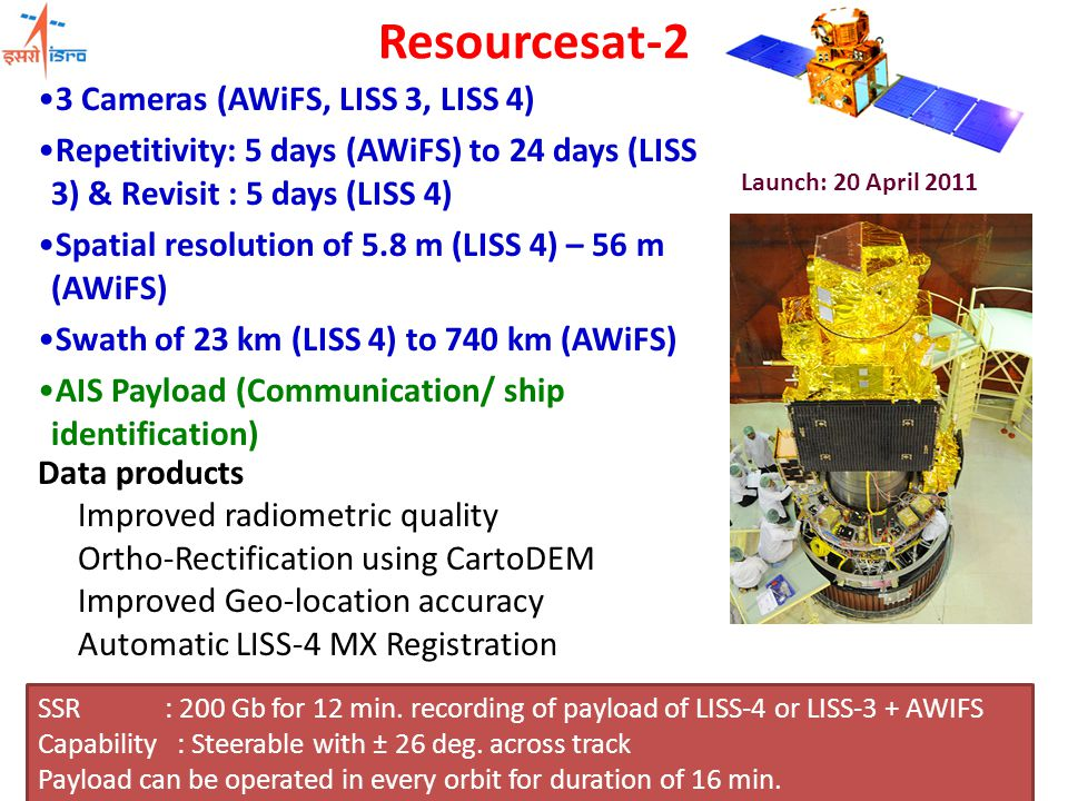 Future Geospatial Activities National HR data sets for decentralised planning support (SiSDP) - Society Outreach Geophysical Products including Climate Quality (ECV) Model derived Land Surface Process Outputs Unified ISRO Data Geoportal Improved / Expanded Bhuvan Mashups (many web services, incl WRIS) Linking with mobile/PDA for data collection, applications, disaster-related information support….