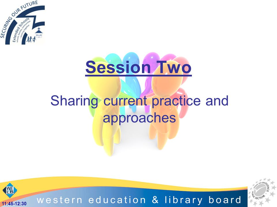 Session Two Sharing current practice and approaches 11:45-12:30