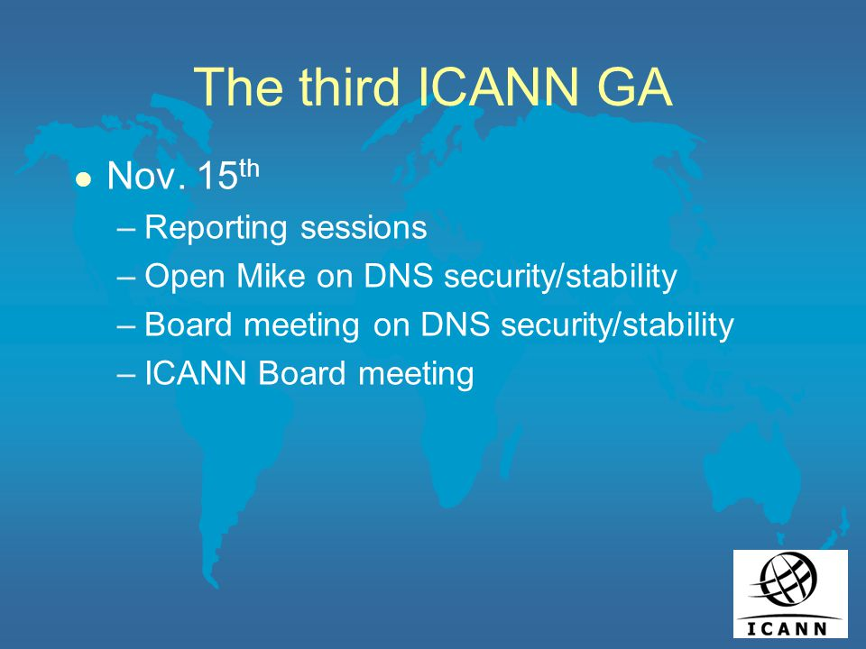 The third ICANN GA l Nov.