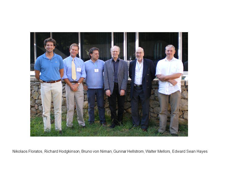Nikolaos Floratos, Richard Hodgkinson, Bruno von Niman, Gunnar Hellstrom, Walter Mellors, Edward Sean Hayes
