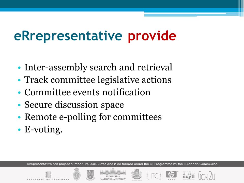 A virtual desktop to support the mobile elected representative Why we are interested in... ?
