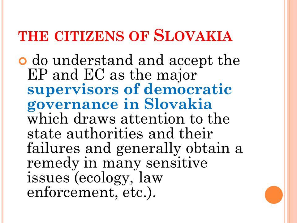 T HE CREDIBILITY OF THE EP AND THE EC AMONG STUDENTS IS HIGH : 2009 Prečítam vám mená rozličných inštitúcií.
