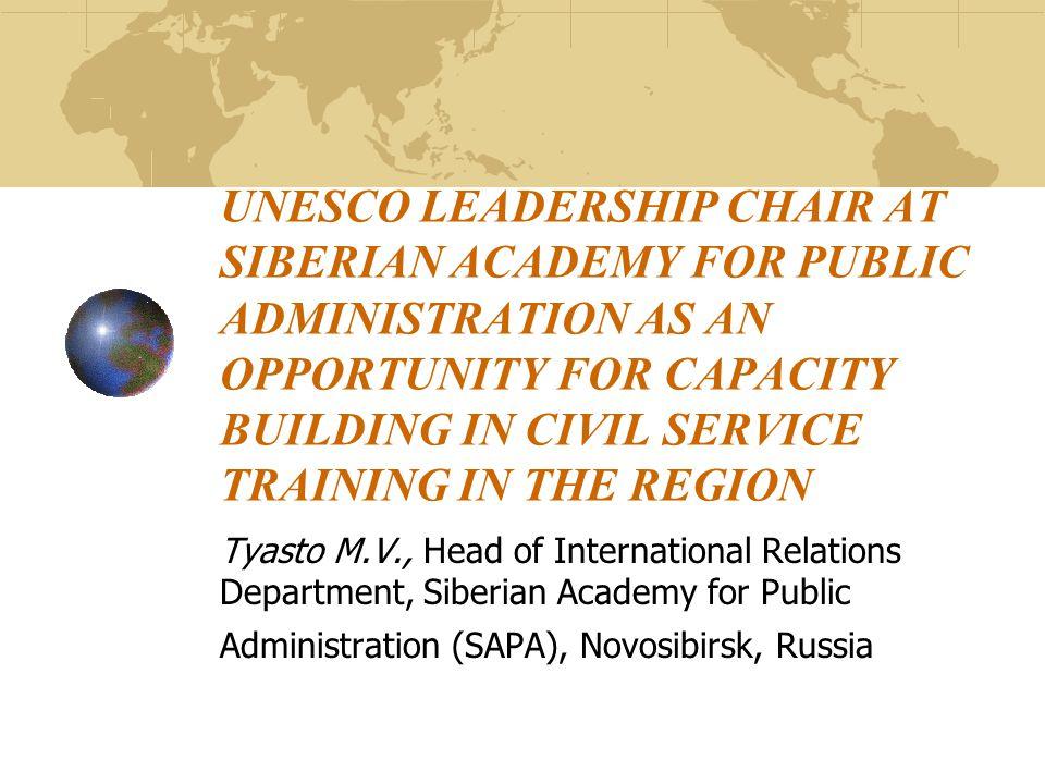 UNESCO Leadership Chair