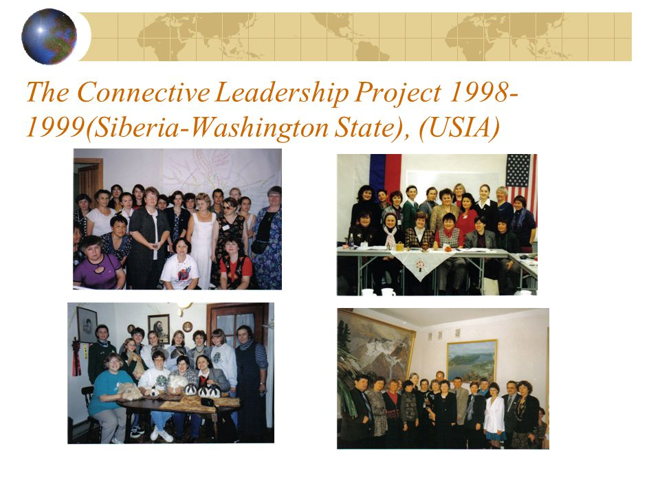 The Connective Leadership Project (1998- 99, 2000-01, 2003-04) 3 rounds of the project were funded by different American agencies and foundations (USIA, BECA and FRAEC).