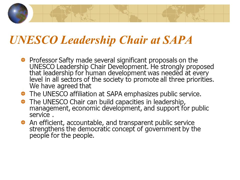 UNESCO Leadership Chair