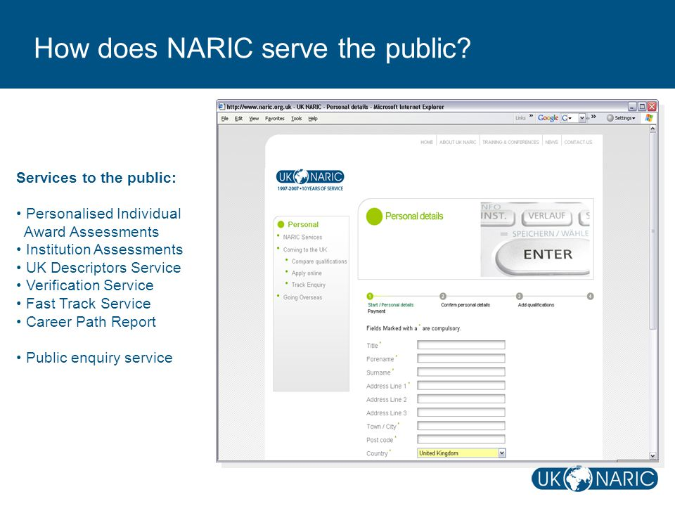 How does NARIC serve the public.