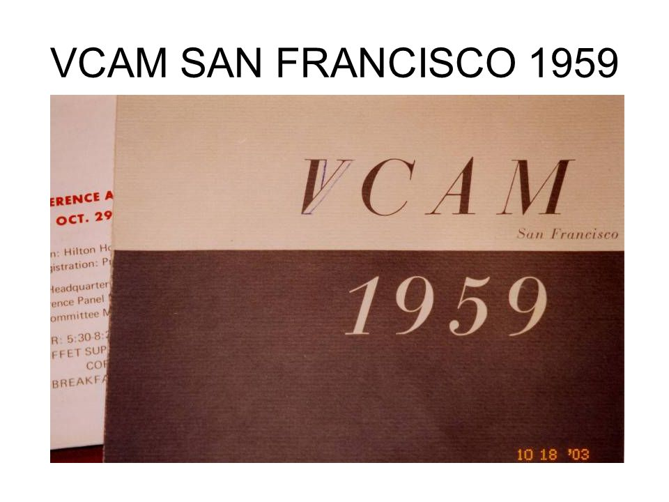 VCAM SAN FRANCISCO 1959