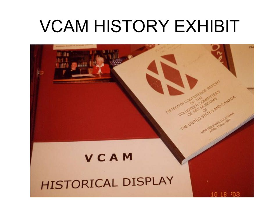VCAM HISTORY EXHIBIT