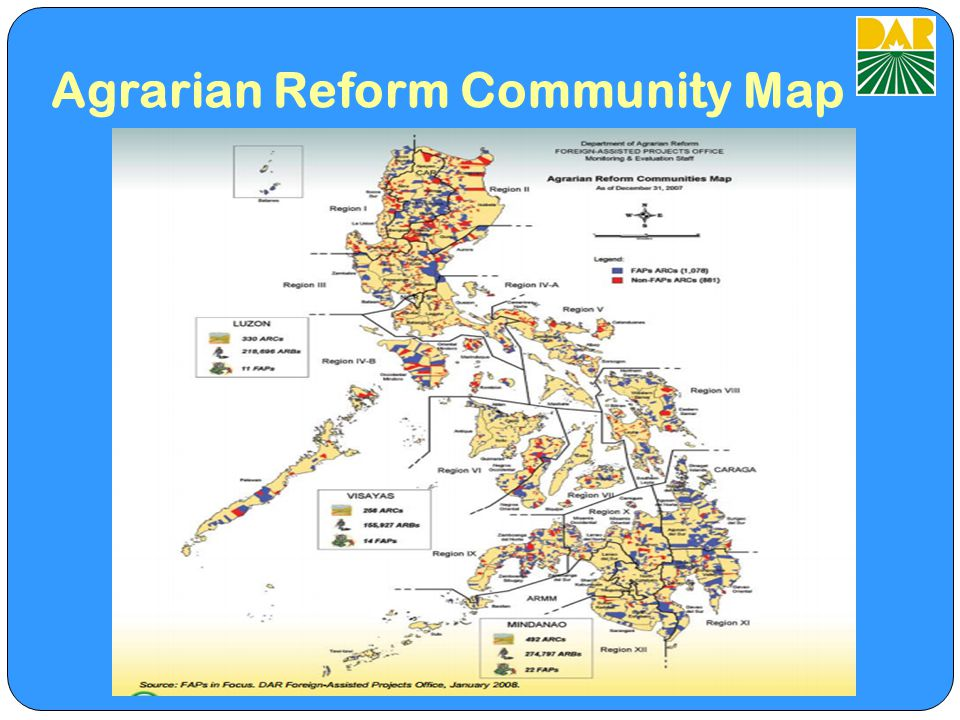 Agrarian Reform Community Map