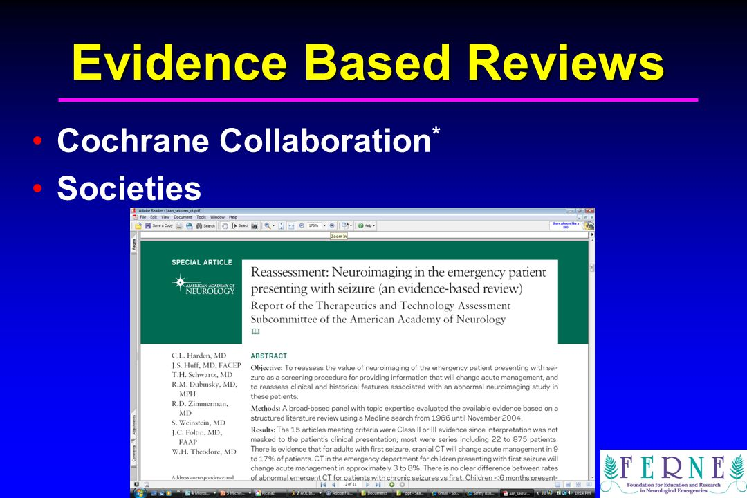 Edward P. Sloan, MD, MPH Evidence Based Reviews Cochrane Collaboration * Societies