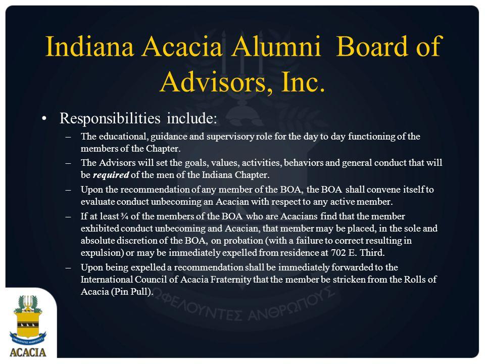 Indiana Acacia Alumni Board of Advisors, Inc.