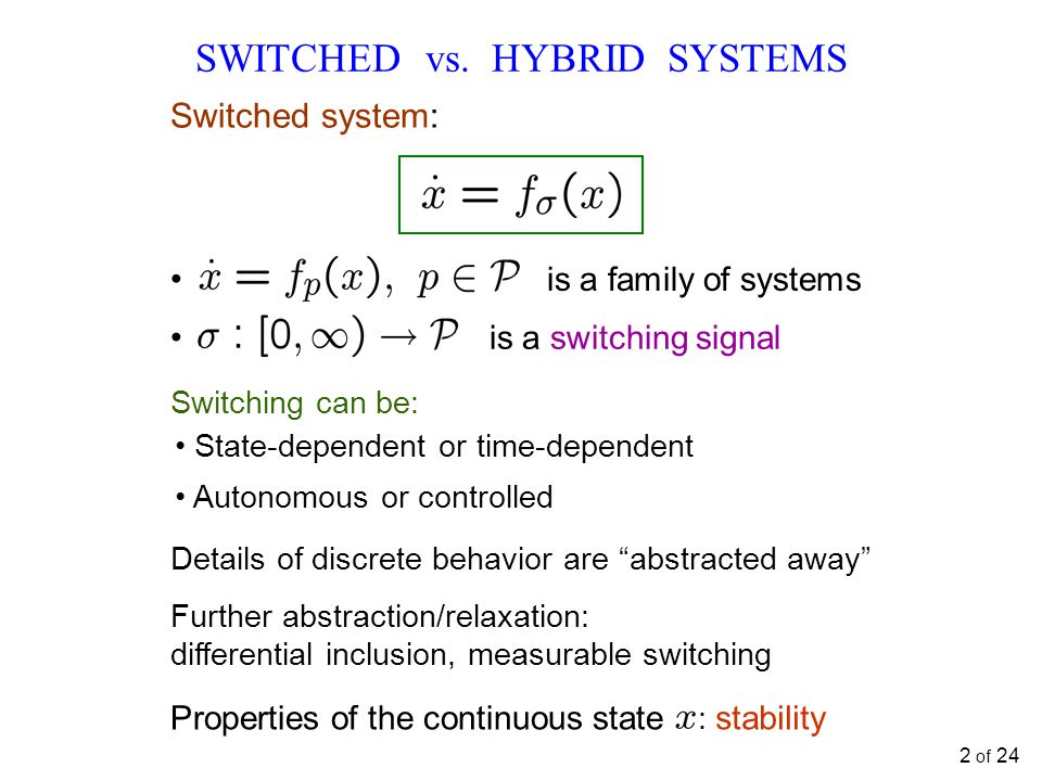 SWITCHED vs.