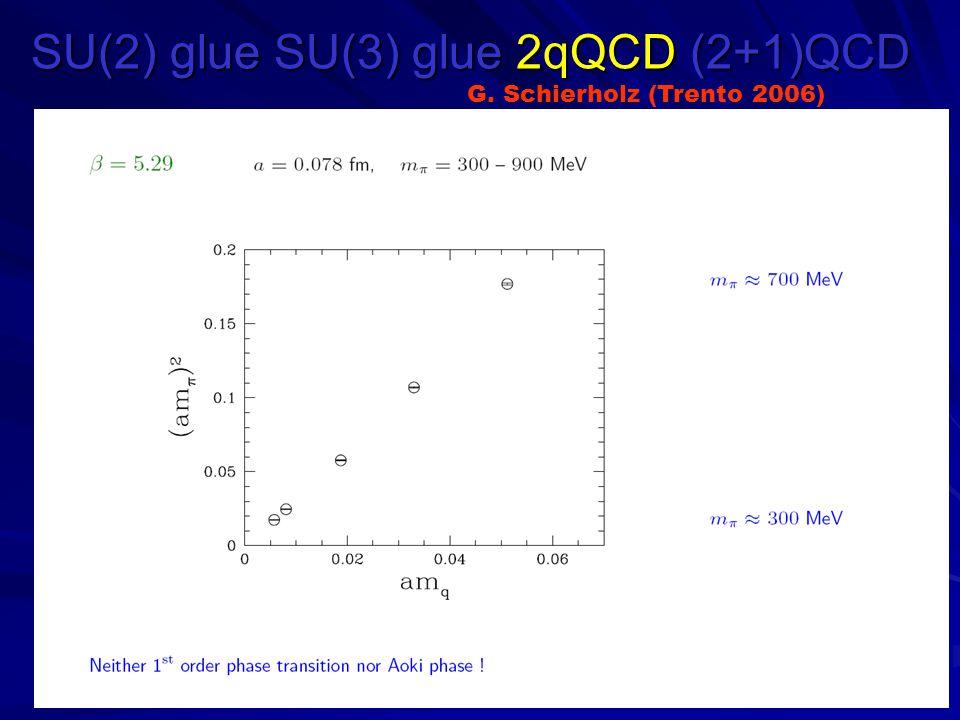 SU(2) glue SU(3) glue 2qQCD (2+1)QCD G. Schierholz (Trento 2006)