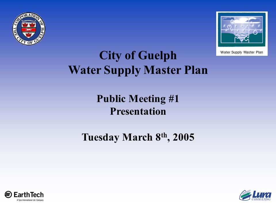 Public Meeting #1 March 8 th, 2005 32 Evaluation Criteria for Consideration cont'd  Technical Considerations: Ability to implement alternative Ability to meet peak demands Maintaining operation during construction Minimizing disruptions/downtime Constructability Schedule and Timing Water Quality – Requirement for treatment Allowance for future treatment needs Expandability Ability to respond to change in regulatory treatment requirements/standards Ability of alternative to use existing infrastructure