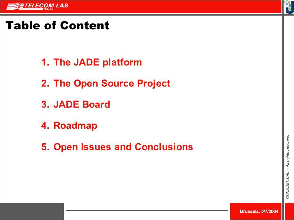 JADE – Java Agent Development Framework Fabio Bellifemine, Telecom Italia LAB 5 th July 2004 http://jade.tilab.com/