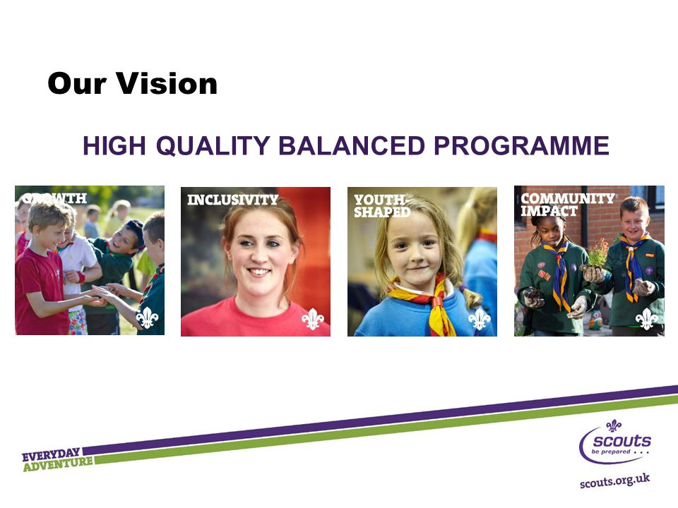 Our Vision HIGH QUALITY BALANCED PROGRAMME