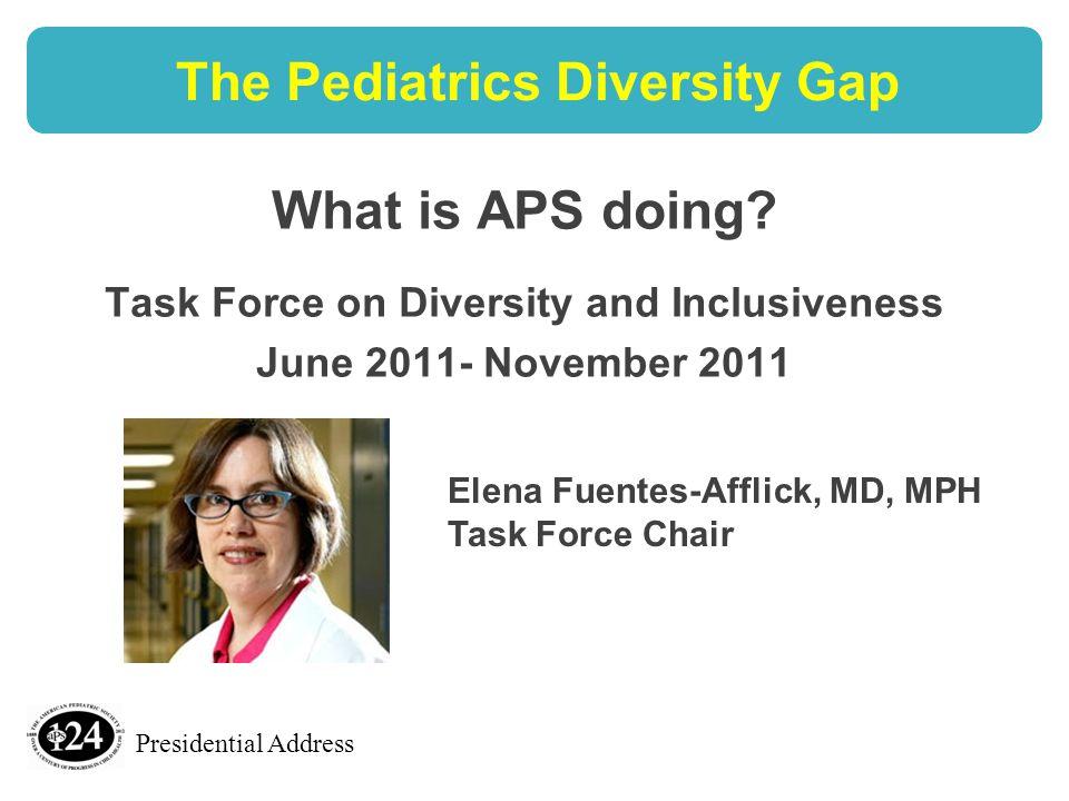 Presidential Address The Pediatrics Diversity Gap What is APS doing.