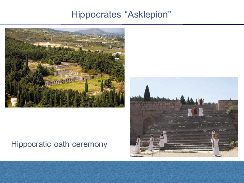 """Hippocrates """"Asklepion"""" Hippocratic oath ceremony"""