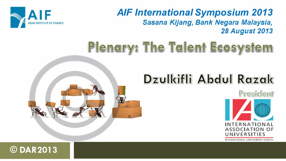 © DAR2013 AIF International Symposium 2013 Sasana Kijang, Bank Negara Malaysia, 28 August 2013