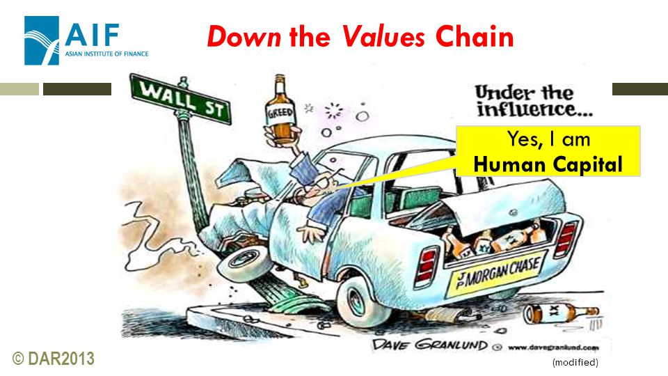 © DAR2013 Yes, I am Human Capital (modified) Down the Values Chain