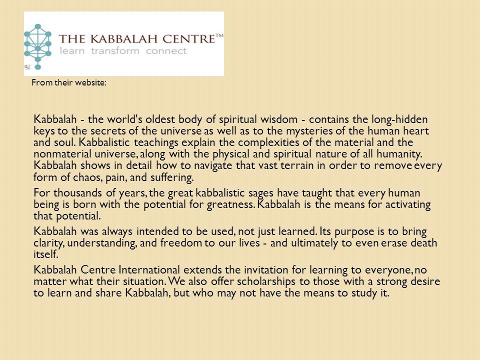 Kabbalah as Self-Help