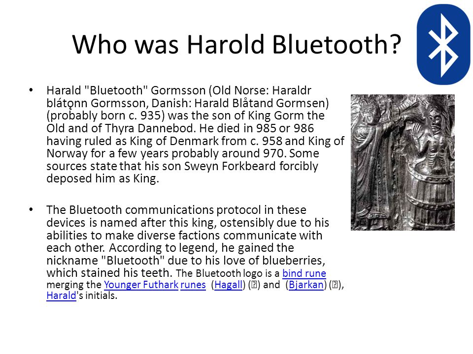 Who was Harold Bluetooth.