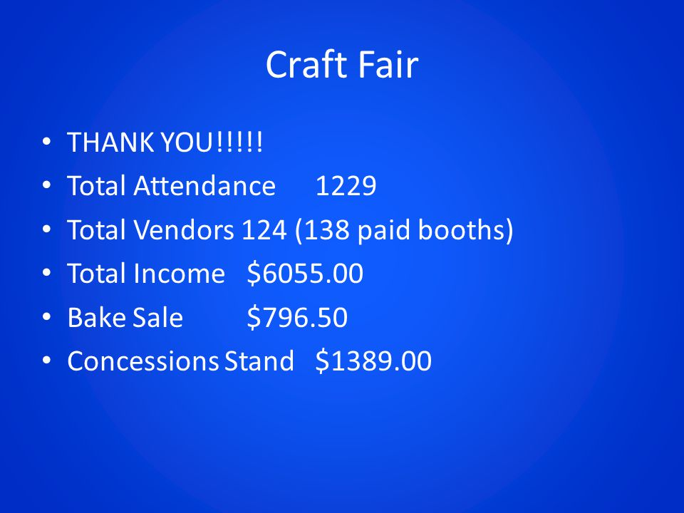 Craft Fair THANK YOU!!!!.