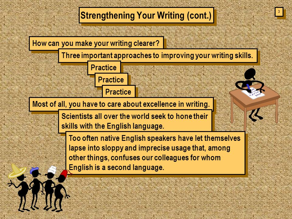 3 3 Strengthening Your Writing (cont.) How can you make your writing clearer.