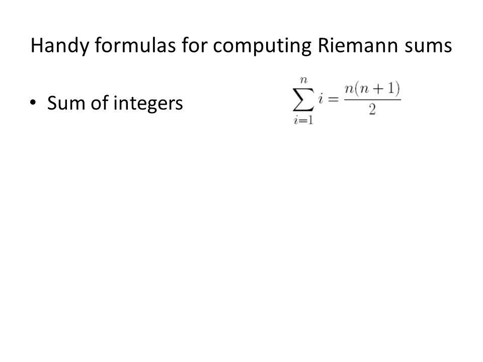Sum of integers