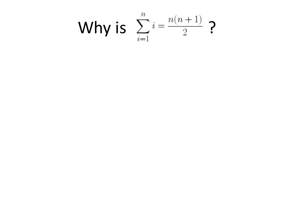 Why is ?