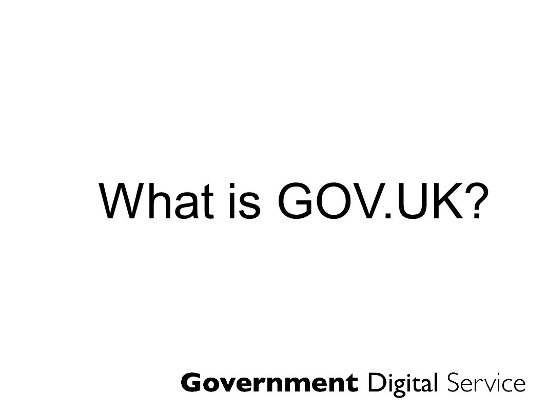 In 2004 the government web went from a loosely coordinated collection of websites...