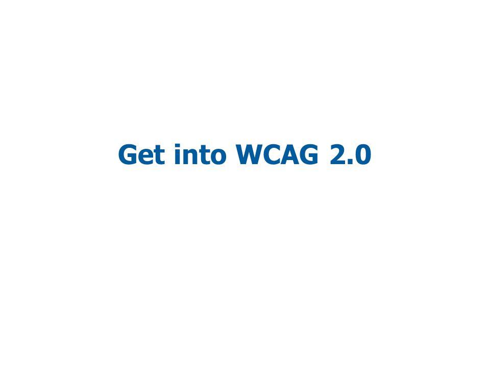 Get into WCAG 2.0