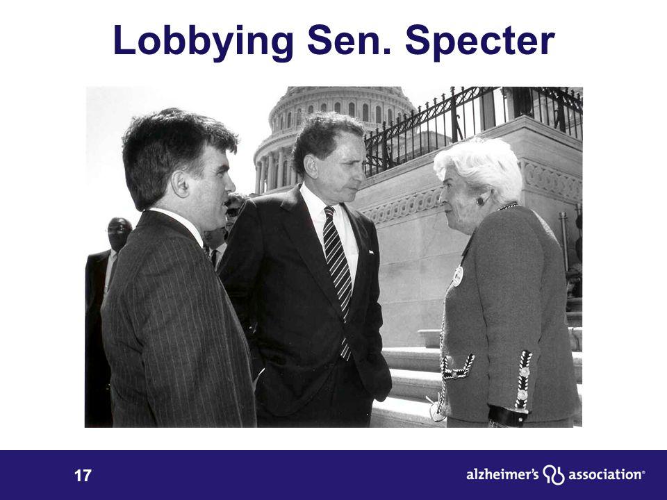 17 Lobbying Sen. Specter