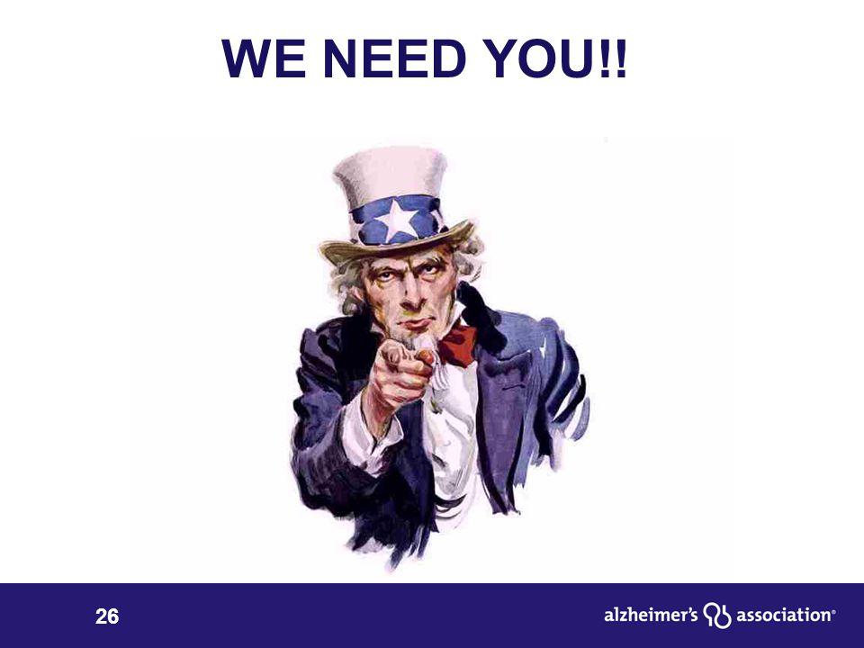 26 WE NEED YOU!!