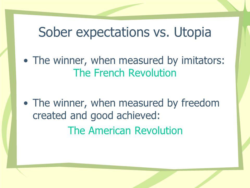 Sober expectations vs.