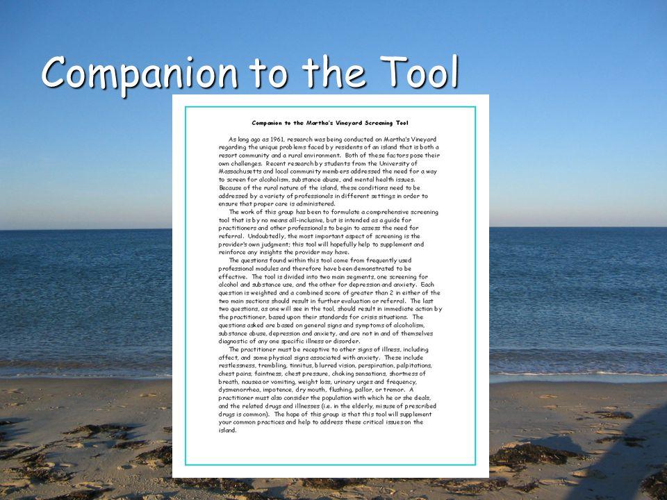 Companion to the Tool