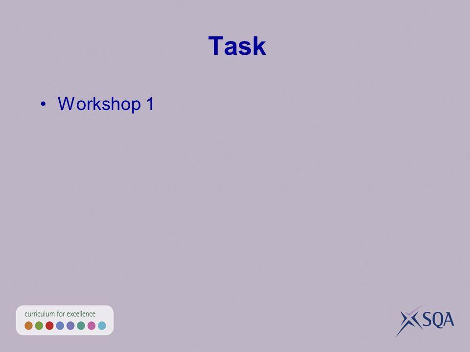 Task Workshop 1