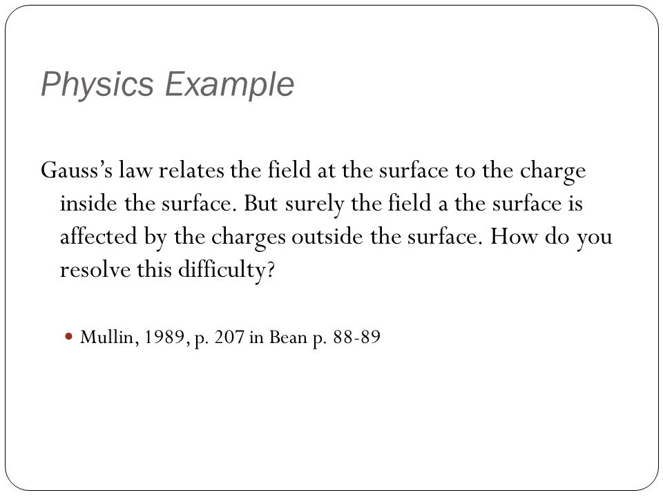 Gauss's law relates the field at the surface to the charge inside the surface.