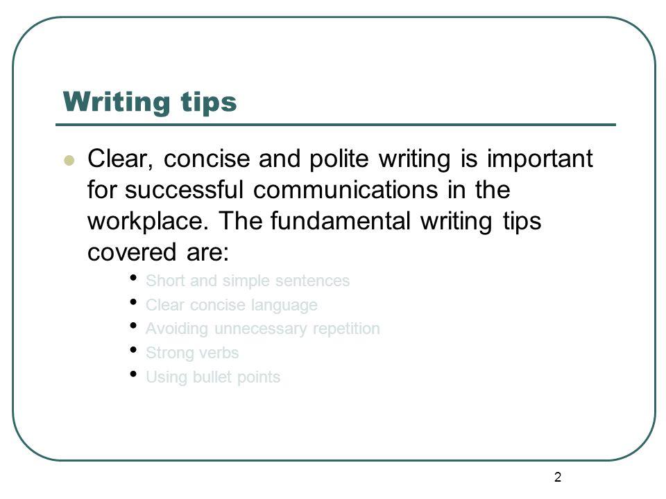 23 Writing tips - Strong Verbs -Activity cont
