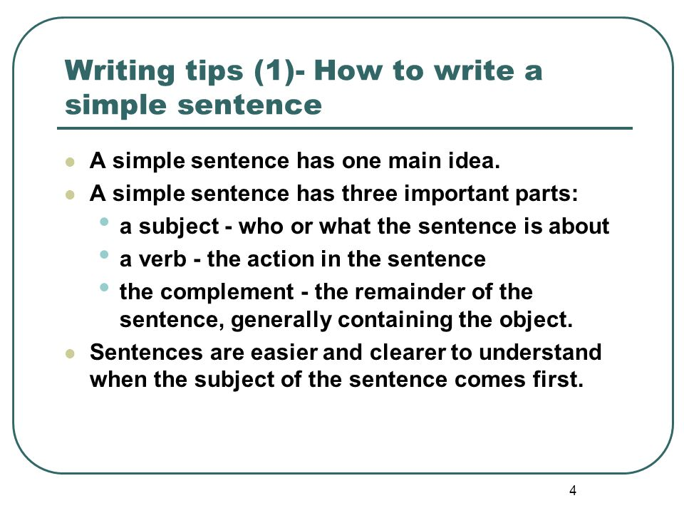 5 Writing tips (1)- Drag a suitable subject or verb to each of the following sentences.