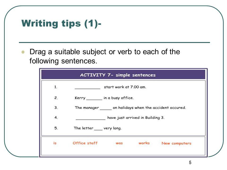 6 Writing tips (1)-