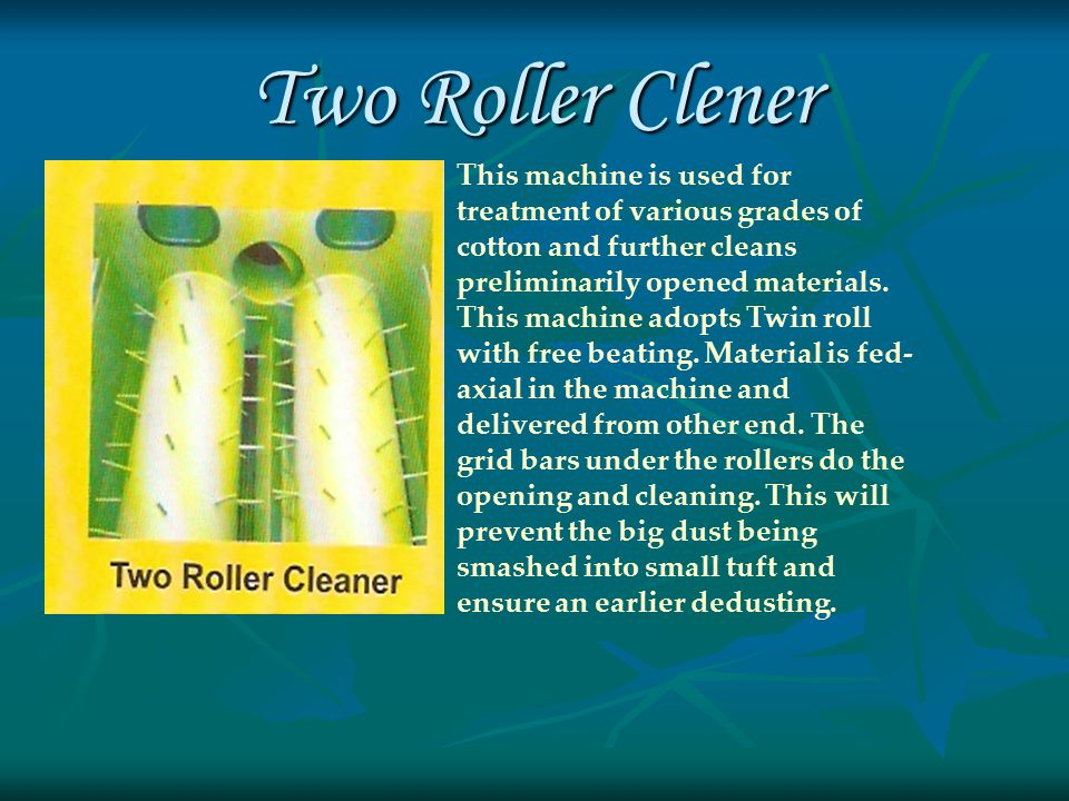 Clearer Roller Cleaner Aeromech Clearer Roller Cleaner cleans thoroughly the fluff from the roller and collects in the chamber provided by a unique suction device.