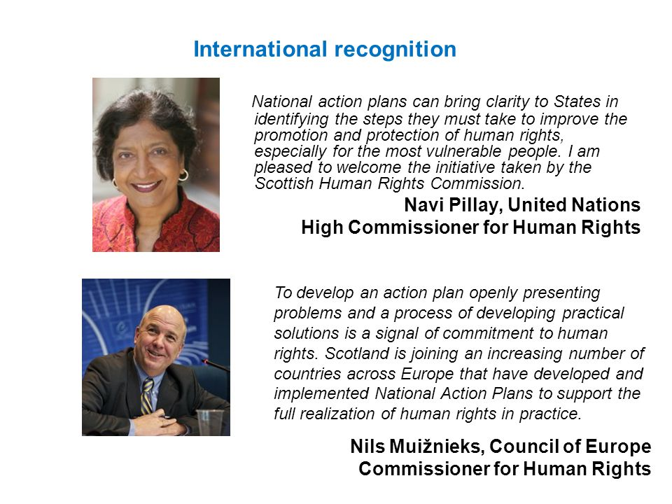 National action plans can bring clarity to States in identifying the steps they must take to improve the promotion and protection of human rights, esp