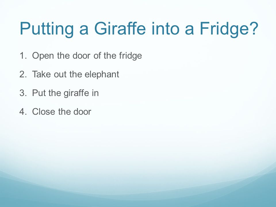 Use Numbering Correctly Use numbers for lists with sequence For example: How to put an elephant into a fridge.