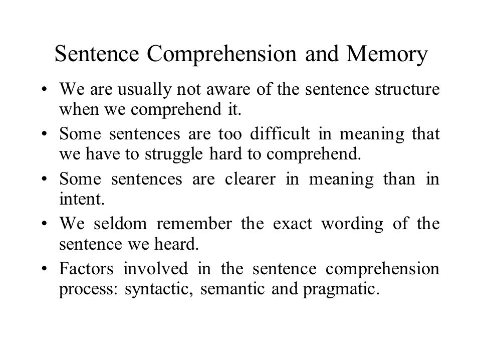 Ferreira's Test (1986) Findings: 1.Readers continued to use the minimal attachment principle.