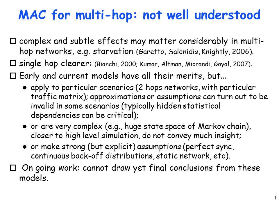 12 Spatial reuse vs fairness oTwo levels of decentralization.