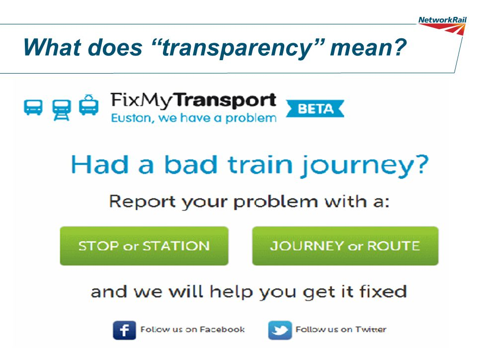 What does transparency mean
