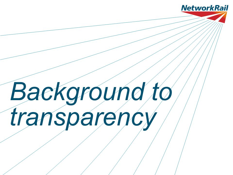 Background to transparency